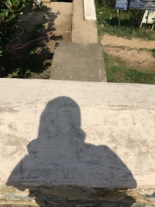 I quite liked my shadow on the path of history!!